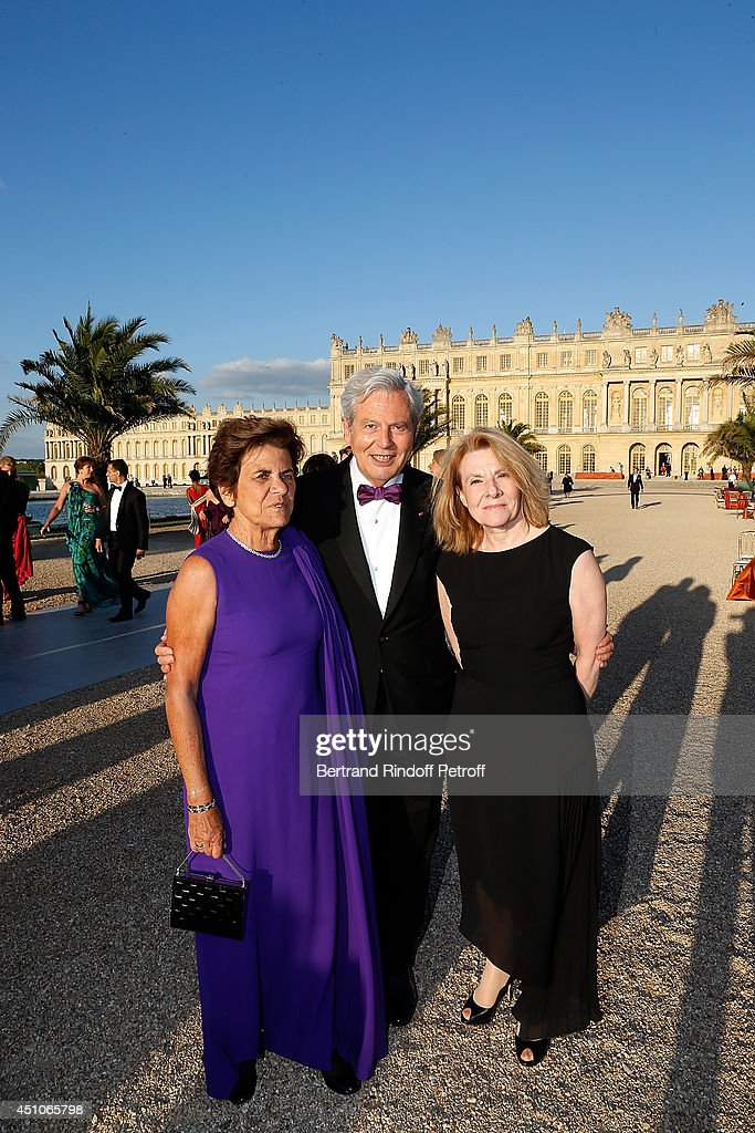 Philippe Houze, his wife and Catherine Pegard attend the L'Oreal Gala Evening 2014 at Chateau de Versailles on June 20, 2014 in Versailles, France.