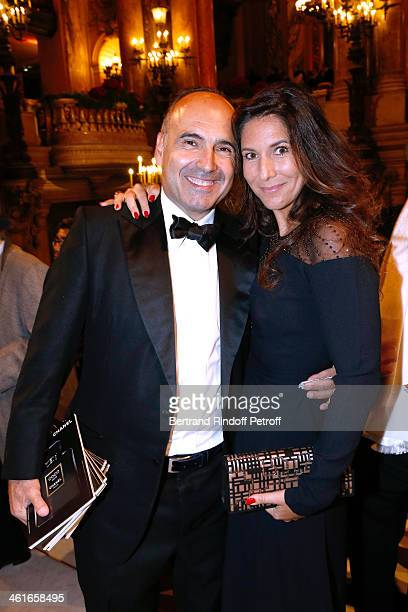 Philippe Journo and his wife attend Arop Charity Gala with 'Ballet du Theatre Bolchoi' Held at Opera Garnier on January 9 2014 in Paris France