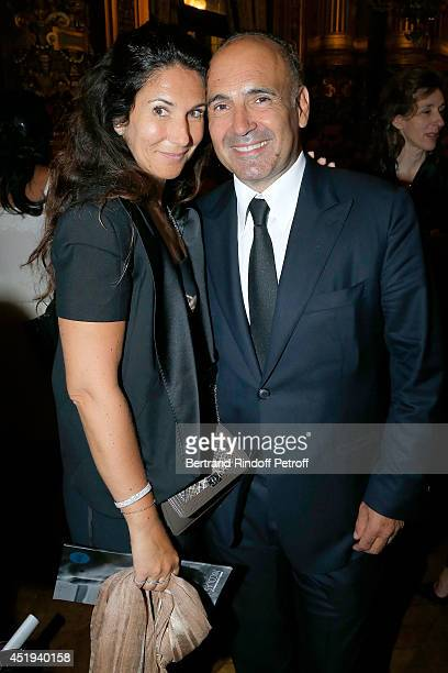 Philippe Journo and his wife attend ballet dancer Nicolas Le Riche's last performance at Opera Garnier on July 9 2014 in Paris France