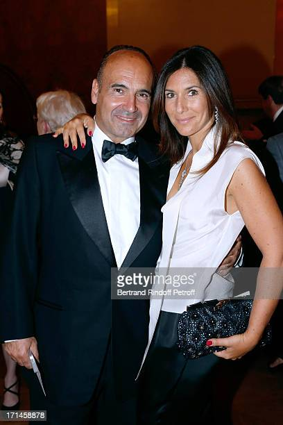 Philippe Journo and his wife attend Gala of AROP at Opera Garnier with representation of 'La Sylphide' on June 24 2013 in Paris France