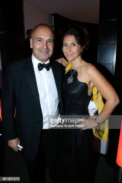Philippe Journo and his wife attend the AROP Charity Gala with the representation of 'Carmen' at Opera Bastille on March 10 2017 in Paris France
