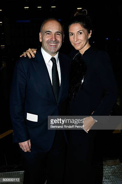 Philippe Journo and his wife attend the gala of AROP and the Representation of 'La Damnation de Faust' at Opera Bastille on December 8 2015 in Paris...