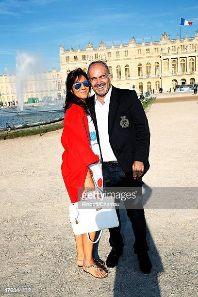 Philippe Journo and his wife attend the Grand Opening Anish Kapoor's Exhibition at Chateau de Versailles on June 7 2015 in Versailles France