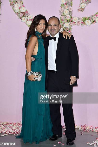 Philippe Journo and wife attend a photocall during The Ballet National de Paris Opening Season Gala at Opera Garnier on September 24 2015 in Paris...