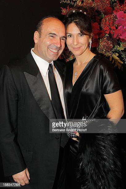Philippe Journo and wife Karine attend the Arop Gala event for Carmen new production launch at Opera Bastille on December 13 2012 in Paris France