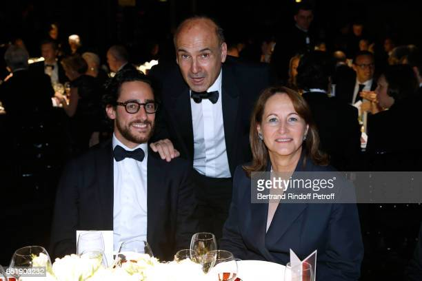 Philippe Journo standing between Segolene Royal and her son Thomas Hollande attend the AROP Charity Gala with the representation of 'Carmen' at Opera...