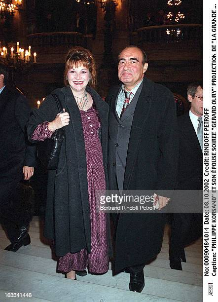 Philippe Khorsand and his wife 'Gerard Oury' film screening of 'La Grande Vadrouille' at the Garnier opera
