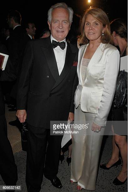 Philippe Labro and Francoise Labro attend RALPH LAUREN 40th Anniversary Dinner at Central Park Conservancy Garden on September 8 2007 in New York