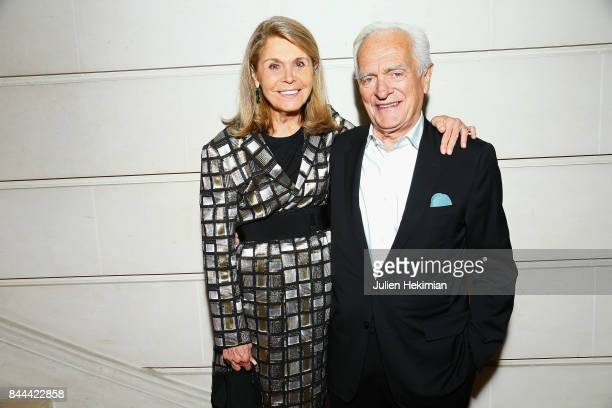 Philippe Labro and his wife attend Baccarat cocktail in Paris on September 8 2017 in Paris France