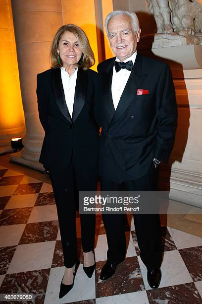 Philippe Labro and his wife Francoise Coulon attend the David Khayat Association 'AVEC' Gala Dinner Held at Versailles Castle on February 2 2015 in...