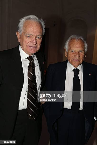 Philippe Labro and Jean D'Ormesson attend the 'Scopus Awards' 2013 at Espace Cambon Capucines on April 10 2013 in Paris France