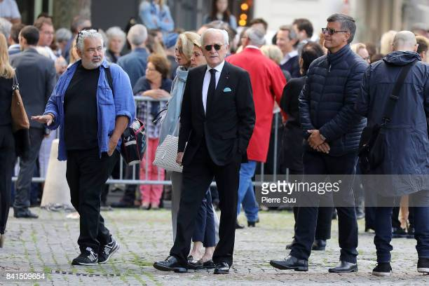 Philippe Labro attends Mireille Darc's Funerals at Eglise SaintSulpice on September 1 2017 in Paris France