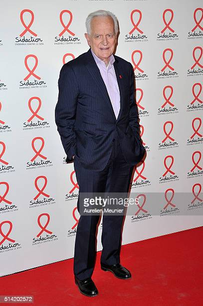 Philippe Labro attends the Sidaction 2016 Launch party photocall at Musee du Quai Branly on March 7 2016 in Paris France