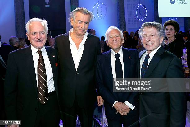 Philippe Labro Bernard Henri Levy Laureat 2013 Jean d'Ormesson and Roman Polanski attend 'Scopus Awards 2013' Taste of Knowledge at Espace Cambon...