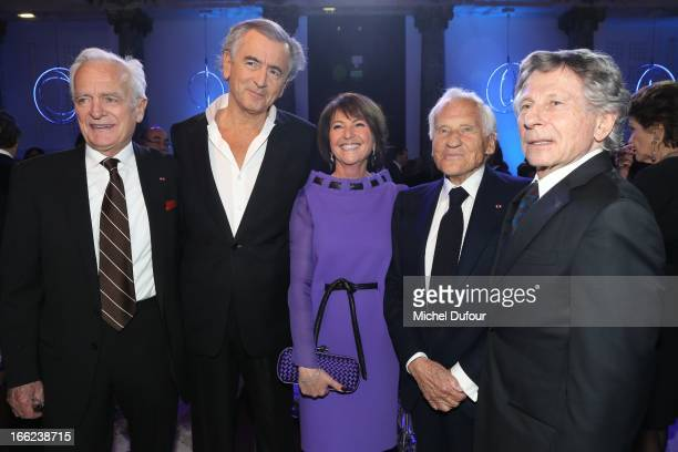 Philippe Labro Bernard Henri Levy Martine Dassault Jean D'Ormesson and Roman Polansky attend the 'Scopus Awards' 2013 at Espace Cambon Capucines on...
