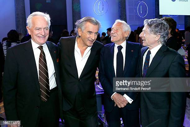 Philippe Labro Bernard Henri Levy President UHJ Martine Dassault Laureat 2013 Jean d'Ormesson and Roman Polanski attend 'Scopus Awards 2013' Taste of...