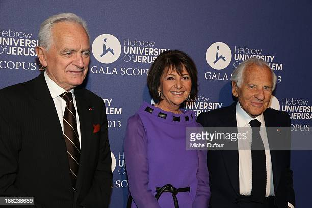 Philippe Labro Martine Dassault and Jean D'ormesson attend the 'Scopus Awards' 2013 at Espace Cambon Capucines on April 10 2013 in Paris France