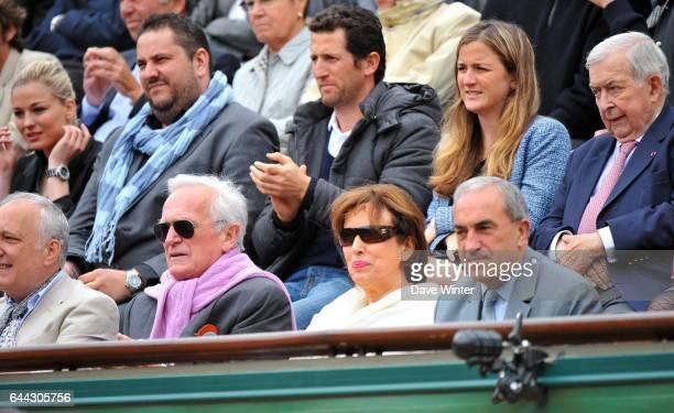 Philippe LABRO / Roseleyne BACHELOT / Jean GACHASSIN Roland Garros 2012 Photo Dave Winter / Icon Sport