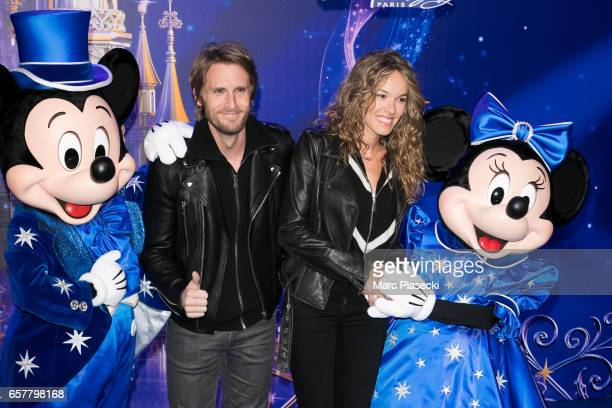 Philippe Lacheau and Elodie Fontan attend the Disneyland Paris 25th Anniversary at Disneyland Paris on March 25 2017 in Paris France