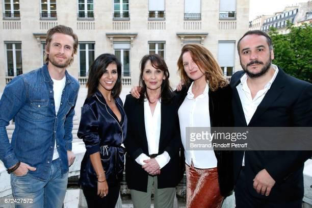 Philippe Lacheau Director of the movie Reem Kherici Chantal Lauby Julia Piaton and FrancoisXavier Demaison attend the 'Jour J' Paris movie Premiere...