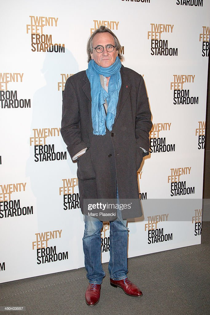Philippe Lavil attends the 'Twenty feet from stardom' Paris premiere at Cinema UGC Normandie on November 18, 2013 in Paris, France.