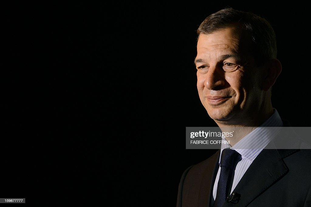 Philippe Leopold-Metzger, CEO of Swiss watchmaker Piaget, part of luxury goods group Richemont, attends the opening day of the 'Salon International de la Haute Horlogerie' (SIHH) a professional fair in fine watchmaking on January 21, 2013 in Geneva.