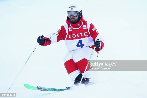 Philippe Marquis of Canada competes in the FIS Freestyle Ski World Cup 2016/17 Mens Moguls Qualification at Bokwang Snow Park on February 11 2017 in...