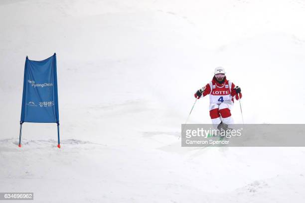 Philippe Marquis of Canada competes in the FIS Freestyle Ski World Cup 2016/17 Mens Moguls Final at Bokwang Snow Park on February 11 2017 in...