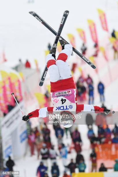 Philippe Marquis of Canada competes in the men's dual moguls during 2017 FIS Freestyle Ski World Cup Tazawako In Akita supported by TDK at Tazawako...