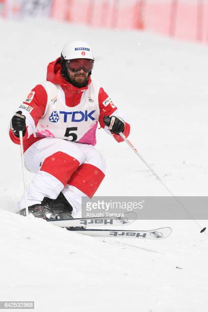 Philippe Marquis of Canada competes in the men's moguls after during 2017 FIS Freestyle Ski World Cup Tazawako In Akita supported by TDK at Tazawako...