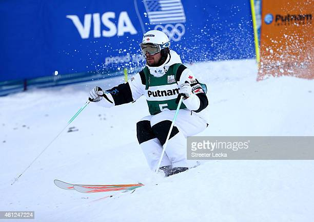 Philippe Marquis of Canada in the men's moguls during the 2015 FIS Freestyle Ski World Cup at Deer Valley on January 9 2015 in Park City Utah