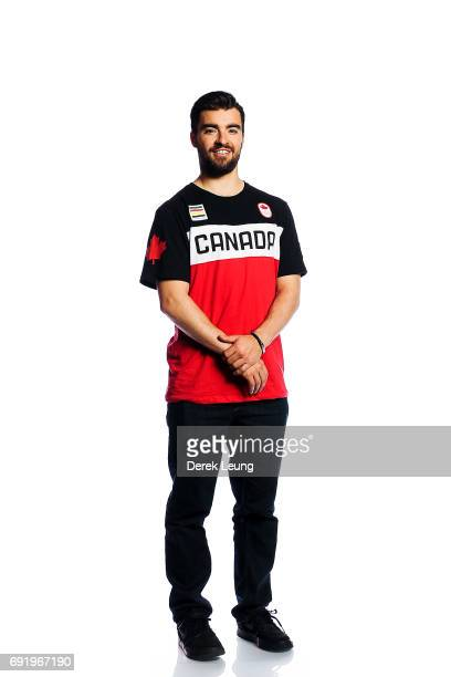 Philippe Marquis poses for a portrait during the Canadian Olympic Committee Portrait Shoot on June 3 2017 in Calgary Alberta Canada
