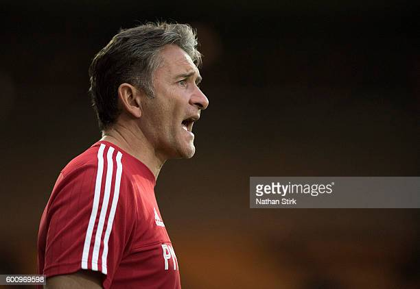 Philippe Montanier manager of Nottingham Forest during the PreSeason Friendly between Port Vale and Nottingham Forest at Vale Park on July 19 2016 in...