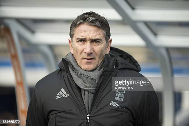 Philippe Montanier manager of Nottingham Forest looks on during the Sky Bet Championship match between Birmingham City and Nottingham Forest at St...