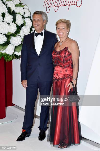 Philippe Narmino and his wife Christine Narmino attend the 69th Monaco Red Cross Ball Gala at Sporting MonteCarlo on July 28 2017 in MonteCarlo Monaco