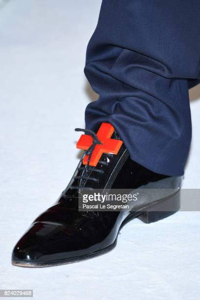 Philippe Narmino shoe detail attends the 69th Monaco Red Cross Ball Gala at Sporting MonteCarlo on July 28 2017 in MonteCarlo Monaco