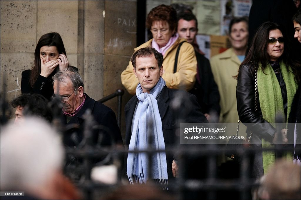 Philippe Noiret's funeral at the Basilica of Saint Clotilde in Paris France on November 27 2006 Charles Berling