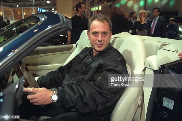 Philippe Risoli at the wheel of a Jaguar