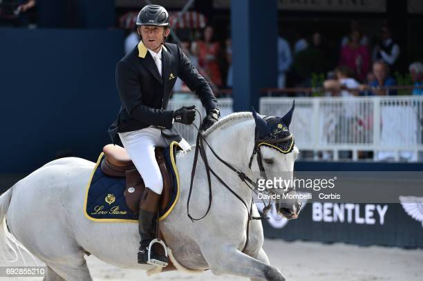 Philippe Rozier of France riding Rahotep de Toscane during the Longines Grand Prix Athina Onassis Horse Show on June 3 2017 in St Tropez France