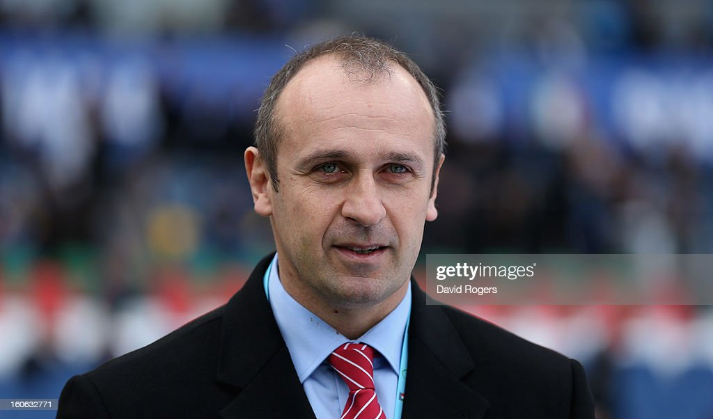Philippe Saint-Andre, head coach of France, looks on during the RBS Six Nations match between Italy and France at Stadio Olimpico on February 3, 2013 in Rome, Italy.