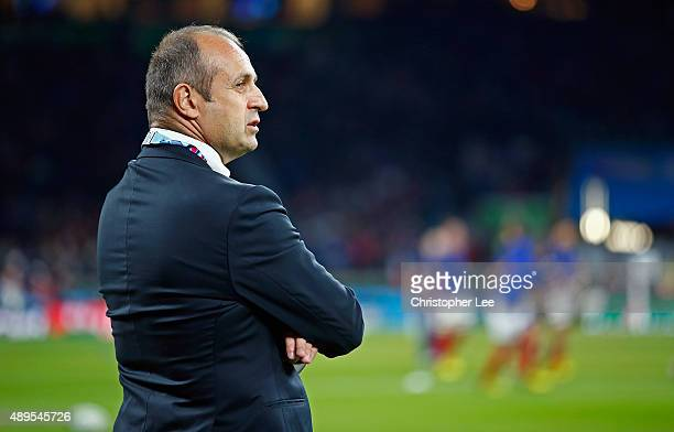 Philippe SaintAndre of France during the 2015 Rugby World Cup Pool D match between France and Italy at Twickenham Stadium on September 19 2015 in...