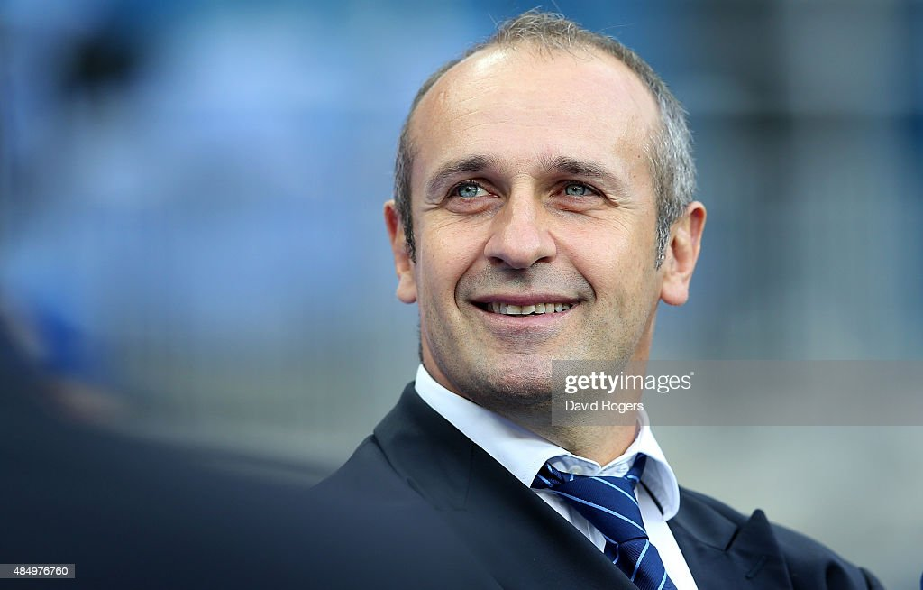 Philippe Saint-Andre, the France head coach, looks on during the International match between France and England at Stade de France on August 22, 2015 in Paris, France.