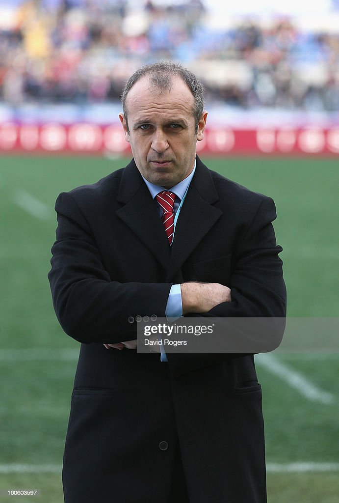 Philippe Saint-Andre, the French coach looks on during the RBS Six Nations match between Italy and France at Stadio Olimpico on February 3, 2013 in Rome, Italy.