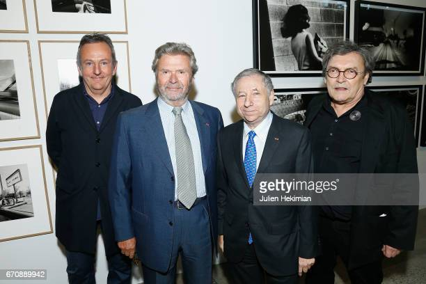 Philippe Seclier Fondation Cartier President Alain Dominique Perrin Jean Todt et Xavier Barral attend 'Auto Photo' Exhibition Preview at Fondation...