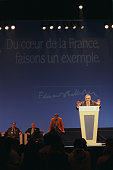 Philippe Seguin gives a speech