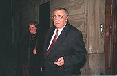 Philippe Seguin leaving the RPR headquarters at the rue de Lille
