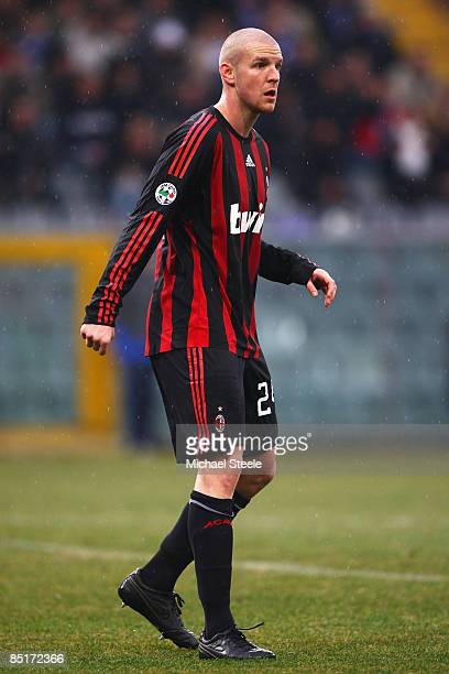 Philippe Senderos of Milan during the Serie A match between Sampdoria and AC Milan at the Stadio Luigi Ferraris on March 1 2009 in GenoaItaly