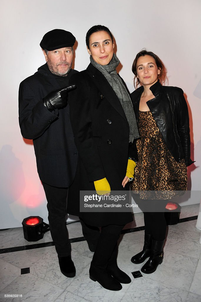 Philippe Starck, his wife Yasmine and their daughter attend 'Madame Figaro' 30th Anniversary Party, at Salle Wagram in Paris.