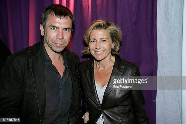 Philippe Torreton and Claire Chazal attend the French launch of TNT