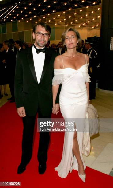 Philippe Torreton and Claire Chazal during 2004 Cannes Film Festival Opening Night Dinner at Man Ray House in Cannes France